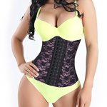 Fajastec Women's Beauty Classic Latex Waist Cincher 3 Hook